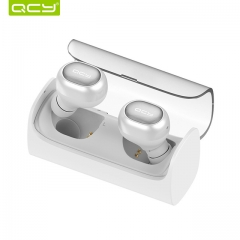 QCY Q29 TWS Bluetooth Earphone Sport Running Wireless Headset Noise Reduction 3D Stereo Earbuds white