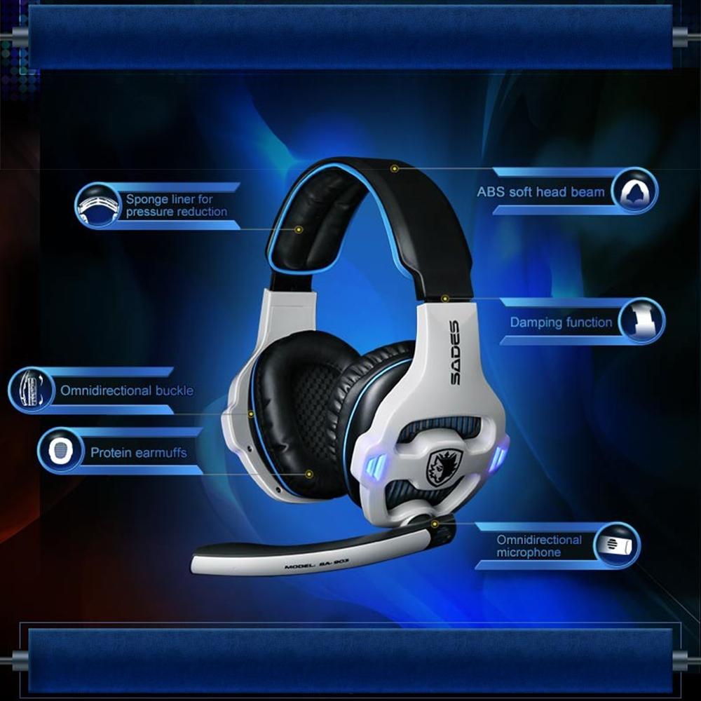 Kilimall Sades Sa 903 Gaming Headset Best Casque 71 Surround Sound Goodaa