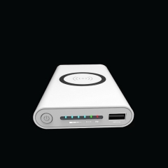 New 10000mAh Qi Wireless PowerBank Charger External QC3.0 Portable Mobile Power Bank Real Capacity white 10000