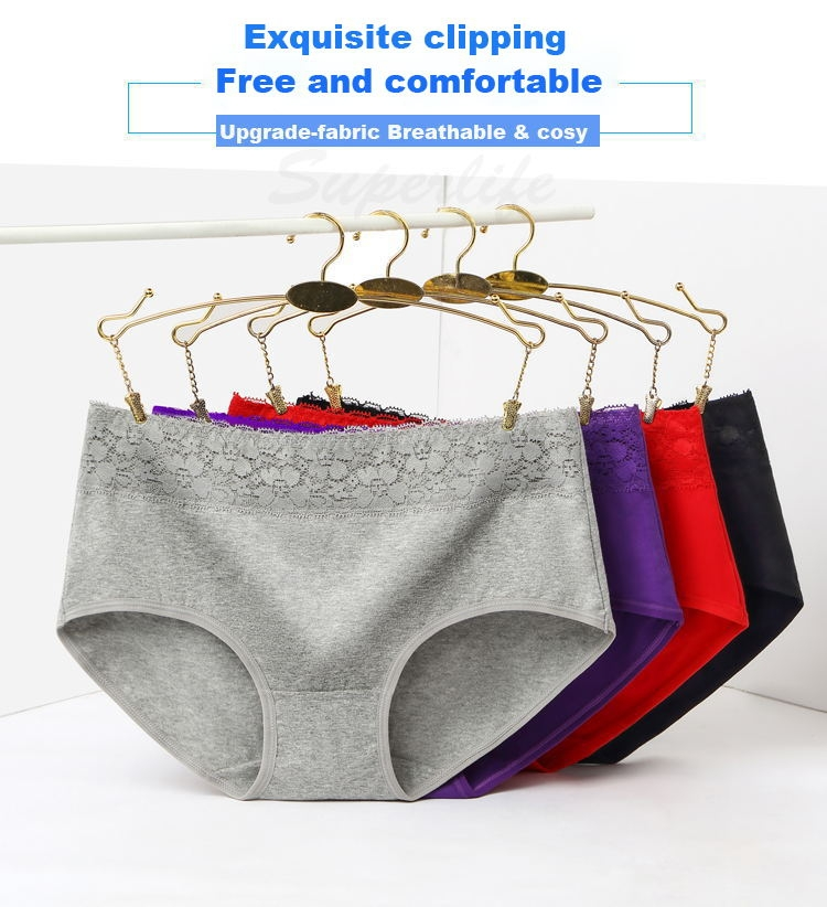 9922cb4a3650 ... women's lingerie lace triangle middle waist pure-cotton sexy underwear  8colors ladies briefs light purple l: Product No: 1716310. Item specifics:  Brand: