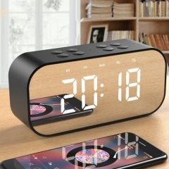 GUOER / fruit electronic A17 Bluetooth speaker home alarm clock wireless computer subwoofer black One size
