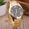 Fashion Luxury Men's and Women's Casual Stainless Steel Gold Roman Digital Sports Quartz Watch black one size