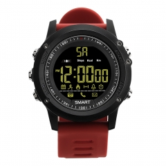 EX17 Smart Sports Watch, Outdoor Sports Smartwatch with Waterproof , Pedometer, Calorie Counter red normal