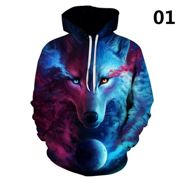 Wolf 3D Hoodies Sweatshirts Men Women Hoodie Casual Tracksuits 01 2xl