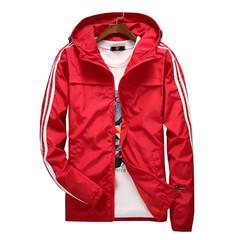 yizlo jacket windbreaker men women jaqueta masculina striped college jackets red m