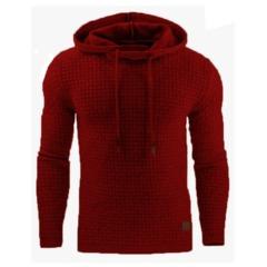 Drop Shipping Hoodies Men Long Sleeve Solid Color Hooded Sweatshirt Male Hoodie Casual Sportswear red m