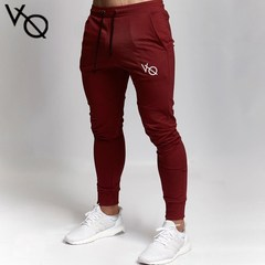 New Fashion Men's Gym Pants Long Trousers for Men Sport Joggers Bottoms red M