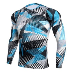 Men's bodysuit running long sleeve track suit amazon stretch quick dry T-shirt 01T S