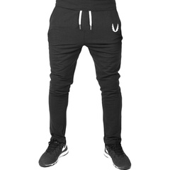 Europe  popular men's casual pants flying logo trousers without feet zip special black s
