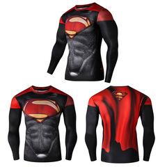Marvel superman batman judge series digital print long-sleeve sport tights m-5xl 01t s