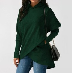 Women Winter Warm Hoodies sweatshit Coat Female Autumn Long Sleeve Pocket wool Pullover Outerwear green s