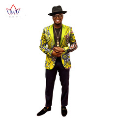 New 2018 African men's suit African casual printed suit all cotton batik printed fabric 01 m
