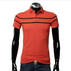 New men's wear lapel T-shirt striped POLO shirt men trim foreign trade T shirt short sleeves 01 m normal