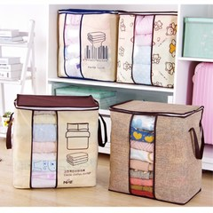 Non-woven Portable Clothes Storage Bag Organizer  Folding Closet Organizer random color