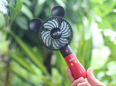 Cartoon mickey Minnie three speed adjustable USB convenient mute handheld charging fan 01