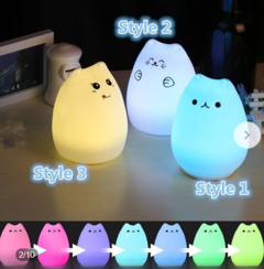 PortableColor Changing Sensitive LED Night Light  Controlled for Bedroom Lamp+USB Cable one color 102mm 4.5w