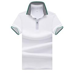 Men's summer cotton T-shirt polo shirt shirt casual business half sleeve V lapel short sleeve white m