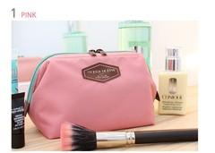 Fashion cosmetic bag travel portable toiletries bag pink