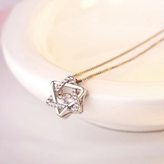 Korean version of the new smart six - awned star pendant S925 silver one size