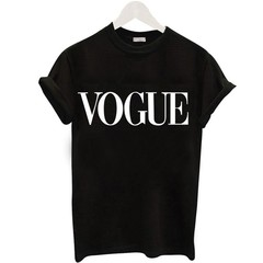 Alphanumeric printed short sleeved summer T-shirt for women vogue black s
