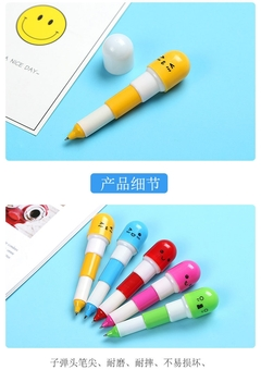 Expression retractable pill pen capsule pen ballpoint pen blue one size blue one size