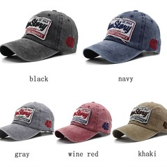 New Baseball Cap Women Men Brand Caps Hats  Mashed Cotton Embroidery wine red