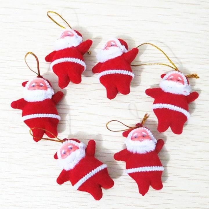 6PCS Christmas Santa Claus Hanging For Xmas Tree Home Party Gift Ornaments