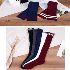Fashion Cotton Sexy Striped Over Knee Socks Long Stockings
