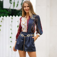 Spring and autumn women u00a0shirt new Bohemian resort style fashion trend shirts