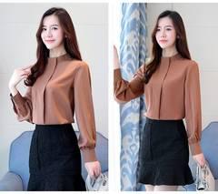2019 women blouse shirt long sleeve plus size women's clothing red office lady shirt feminine tops khaki s