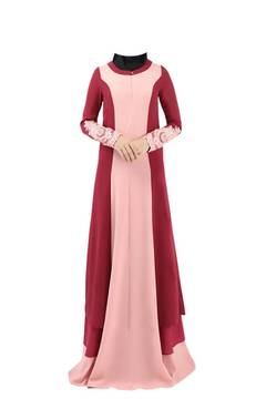 Chiffon islamic clothing muslim  dresses abayas for women abaya dubai bangladesh hijab dress caftan m red