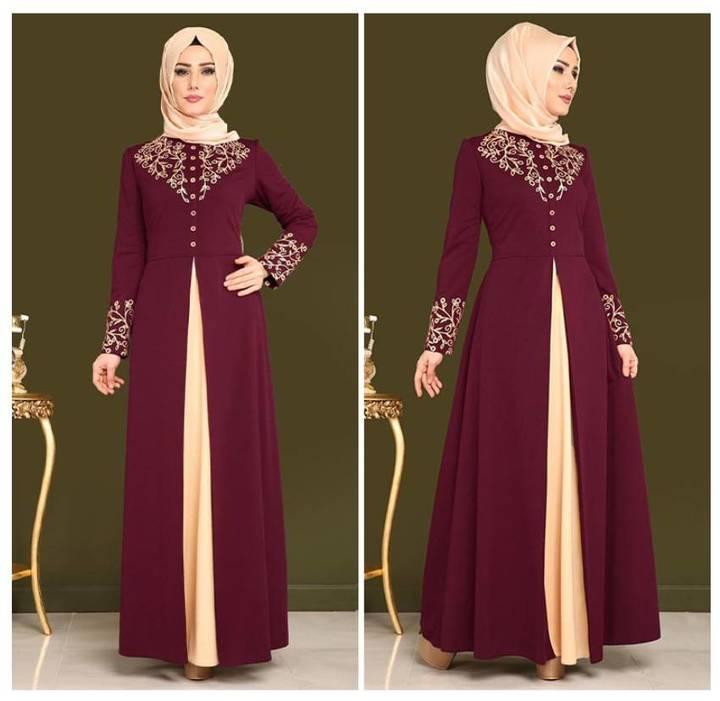 Dubai kaftan Dress Muslim Abaya Women Arabic Lace Cardigain Islam Prayer caftan marocain dresses m red
