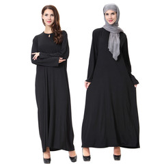 Islamic clothing muslim abaya kaftan dubai arabian dress namaz elbisesi m black