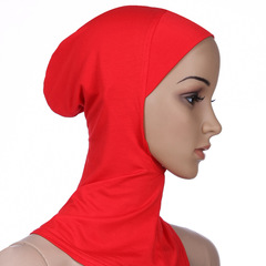 Soft Muslim Full Cover Inner Hijab Caps Islamic Underscarf Islamic Hats M50 red one size