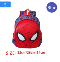 Children's backpacks spider-man backpacks student backpacks Blue S