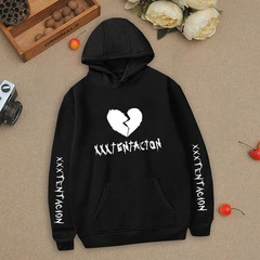 Unisex Street  Style Cartoon High Quality  Women/men Hoodies Pullover Coat Hoody SweatshirtSarees black m