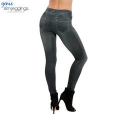 S-5XL Sexy Women Fashion Denim Like Faux Jean Skinny Pants Slim Fit Leggings Pants Faxu Denim Pants black m