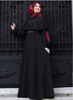 Muslim Abaya Dresses Fashion Islamic Arabic Long Hijab Dress Black Simple Clothing Traditional Abaya s black
