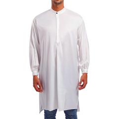 Muslim Apparel Arab Saudi Mens Clothes Islamic Robes Clothing For Islam Men Abaya Robe white m