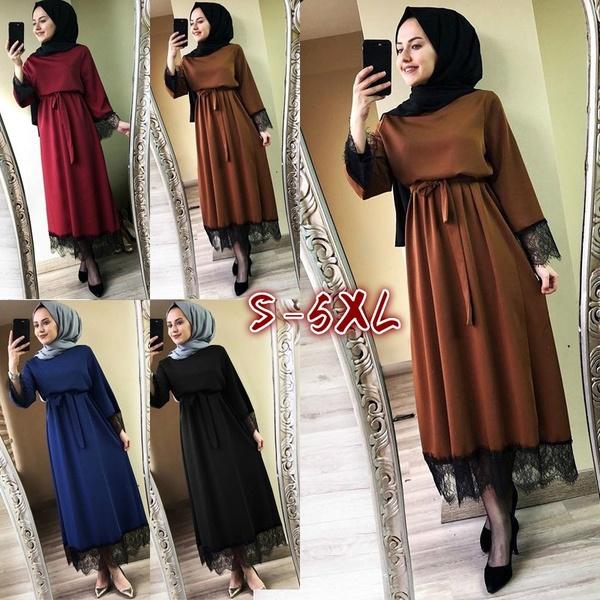 Plus Size Women 2019 Abaya Dubai Ramadan Caftan Moroccan Muslim Dress Kaftan Turkish Islamic Fashion 5xl brown