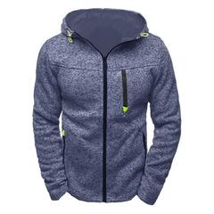 Men Sports Casual Wear Zipper COPINE Tide Jacquard Hoodies Fleece Jacket Fall Sweatshirts Coat blue m
