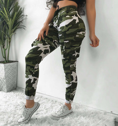 Women's casual pants sexy slim feature camouflage print casual pants white s
