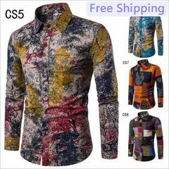 New Men'S Casual Fashion Slim Long-Sleeved Shirt Plus Fat Plus Fertilizer Plus Size Shirt 02 m