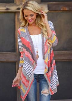 Women Cotton Loose Long Sleeve Knitted Cardigan Sweater red s