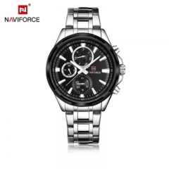 NAVIFORCE 9089 steel belt men's watch waterproof quartz watch calendar watch business man's watch style5 normal