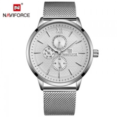 NAVIFORCE new product 3003 men's watch steel belt business six-pin waterproof quartz watch style4 as picture
