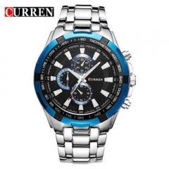 CURREN 8023 Men's watch casual business waterproof quartz steel belt wristwatch style1 as picture