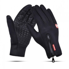 Outdoor cycling All points to touch screen warm gloves men and women Black M