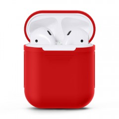 Apple Airpods Headphone Case Protective Sleeve Skin Cover Box for IPhone Air Pods Headset Bag Red