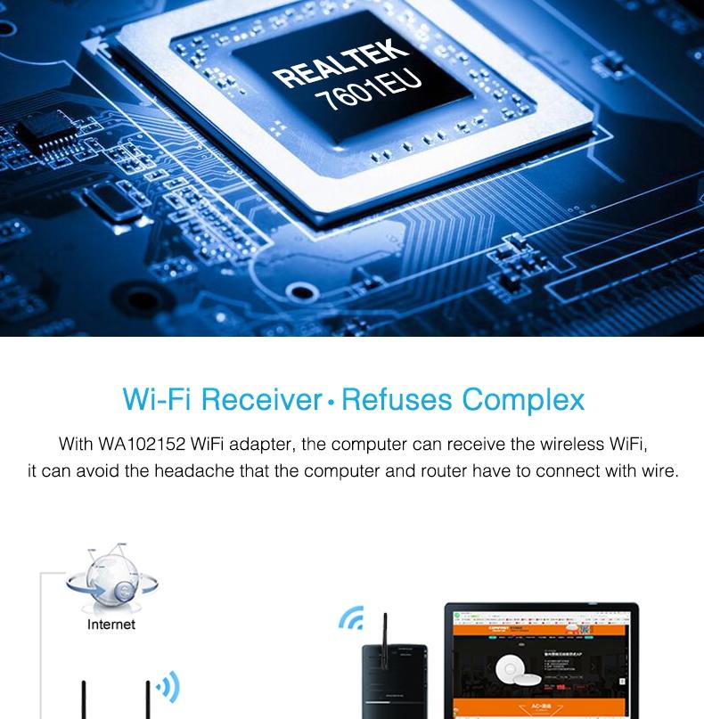 HOT USB WiFi Wireless N Adapter Wi-Fi Dongle 5dBi High Gain Power Antenna 802.11N T2 Black  3